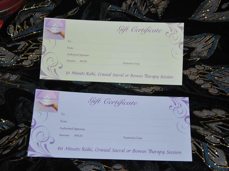 My Soul Balance Gift Certificates