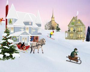 Winter Villiage Scene
